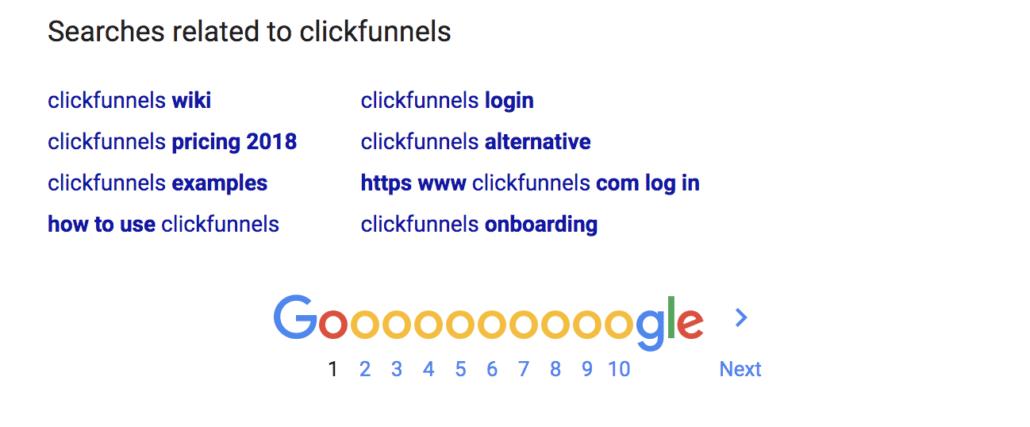finding keywords in google