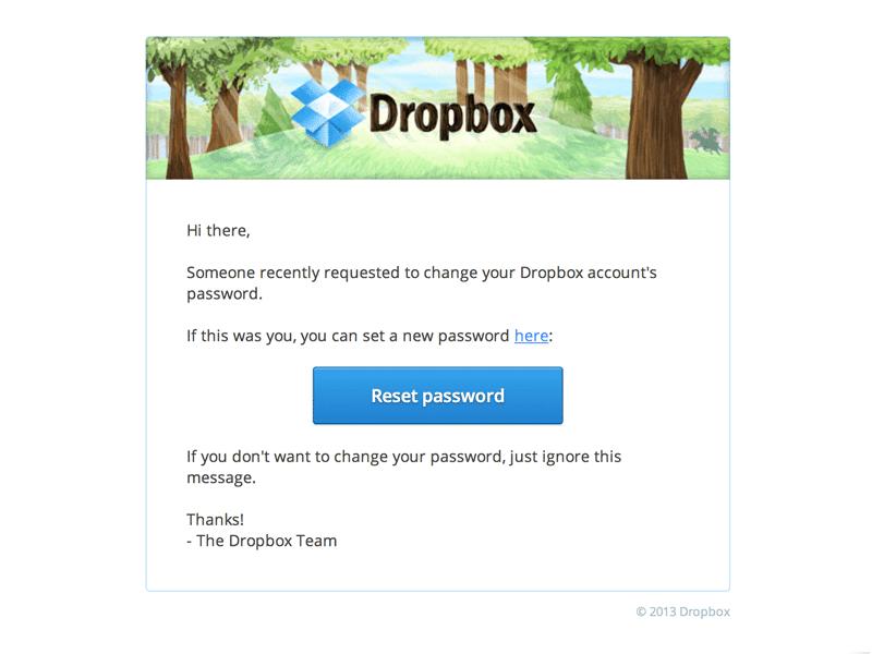 single-column MailChimp email