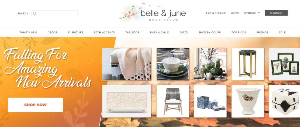 Home Decor Affiliate Program Belle and June