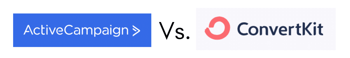 ActiveCampaign vs ConvertKit Logo Graphic