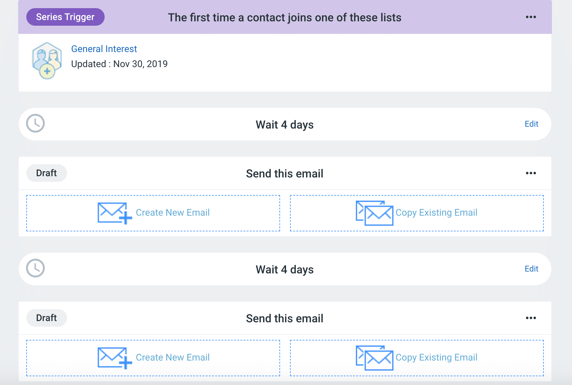 Constant Contact Automation Screenshot