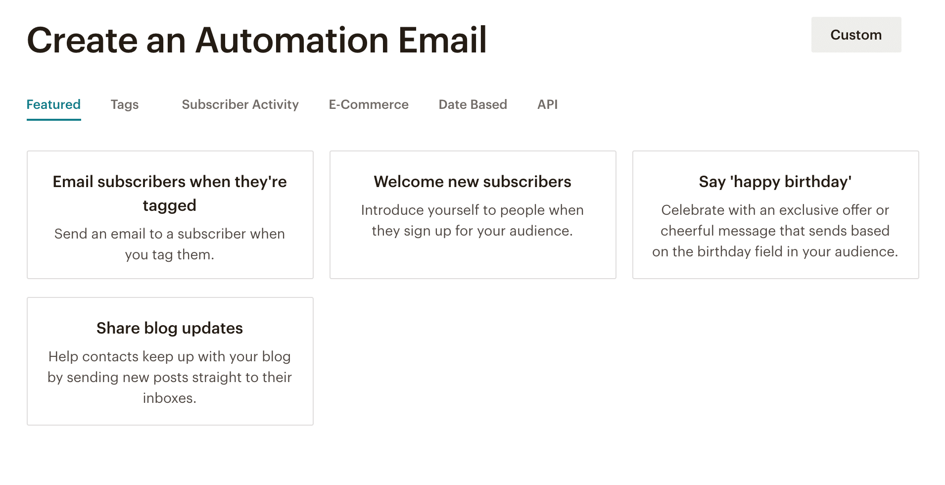 Mailchimp alternatives automations