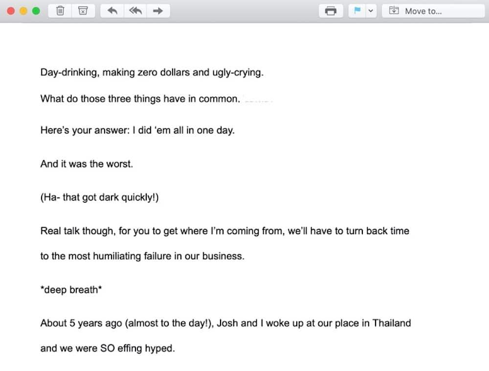 conversational emails
