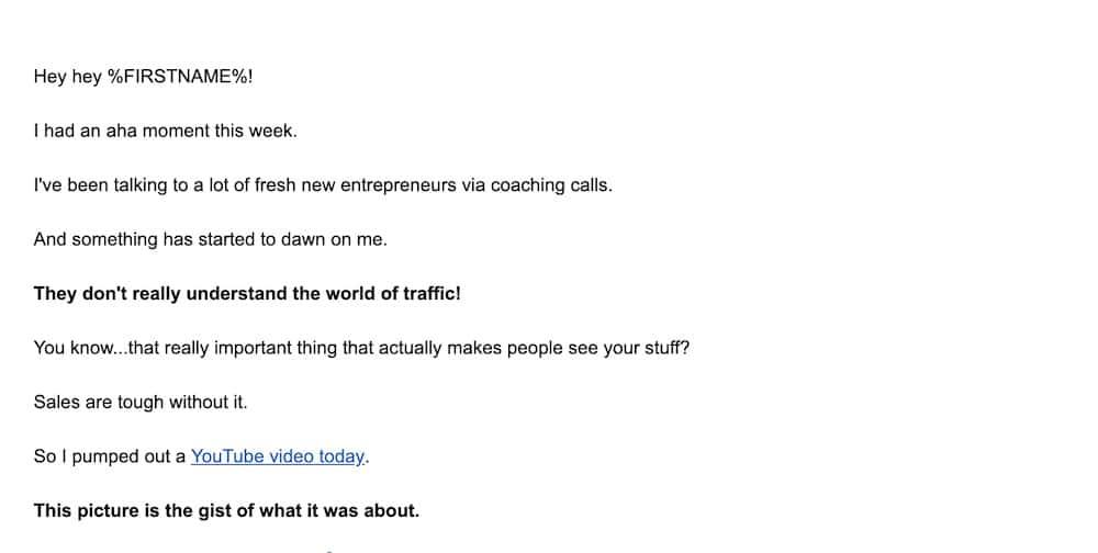 relationship building emails