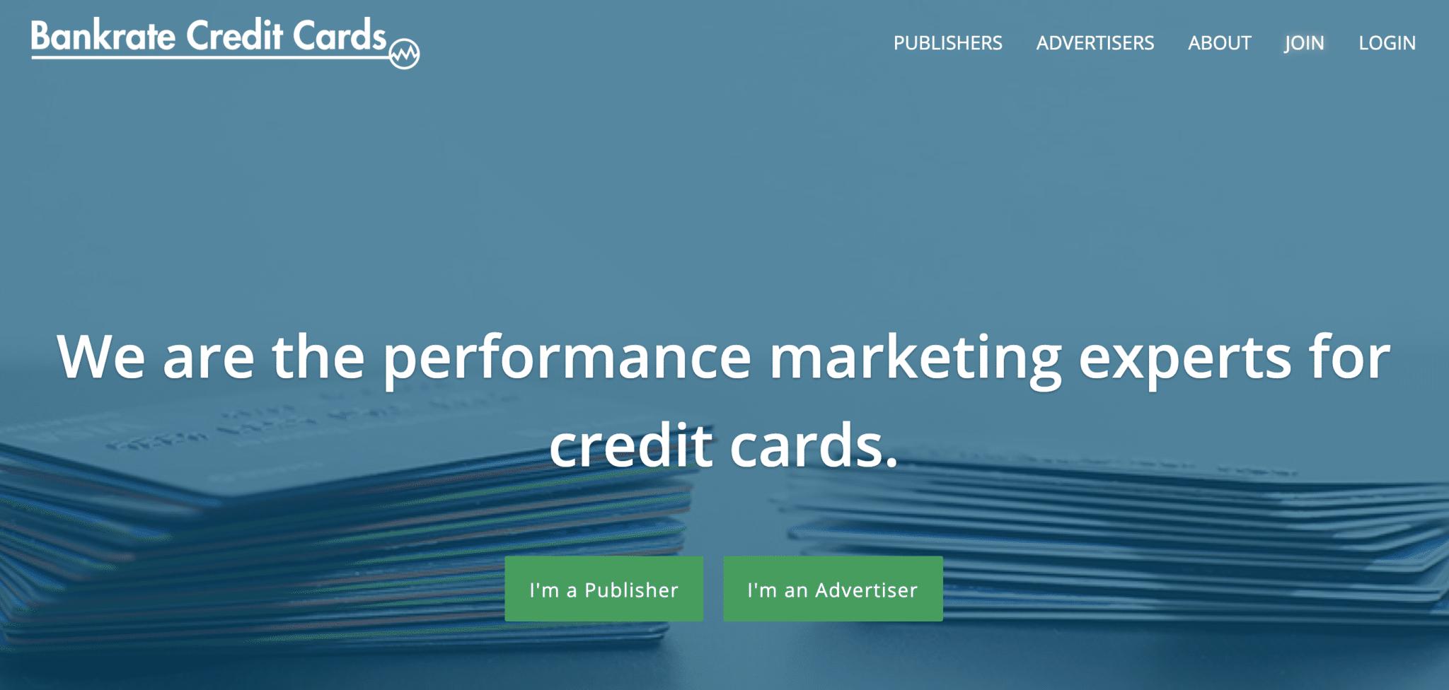 Credit card affiliate - Bankrate Credit Cards