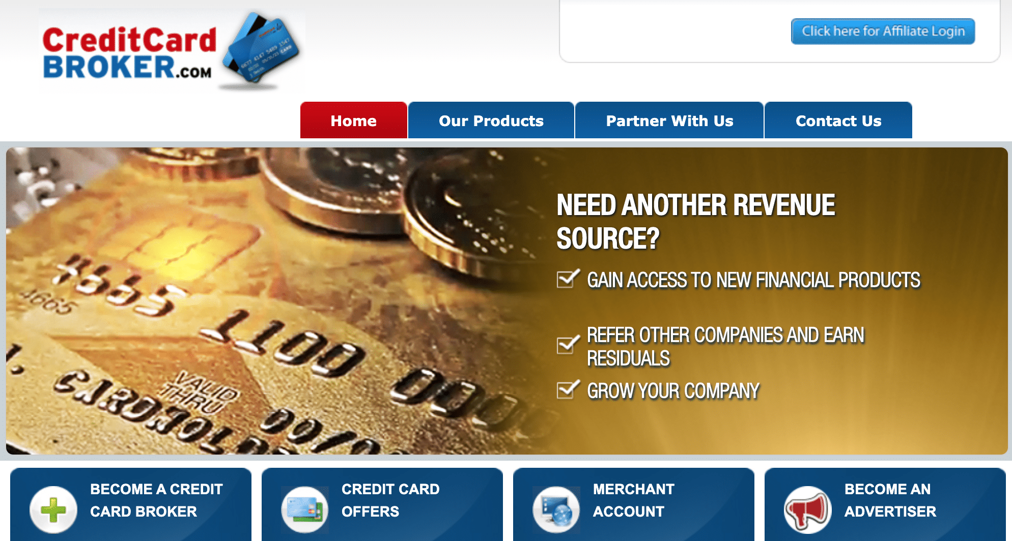Best credit card affiliate program - CreditCardBroker.com
