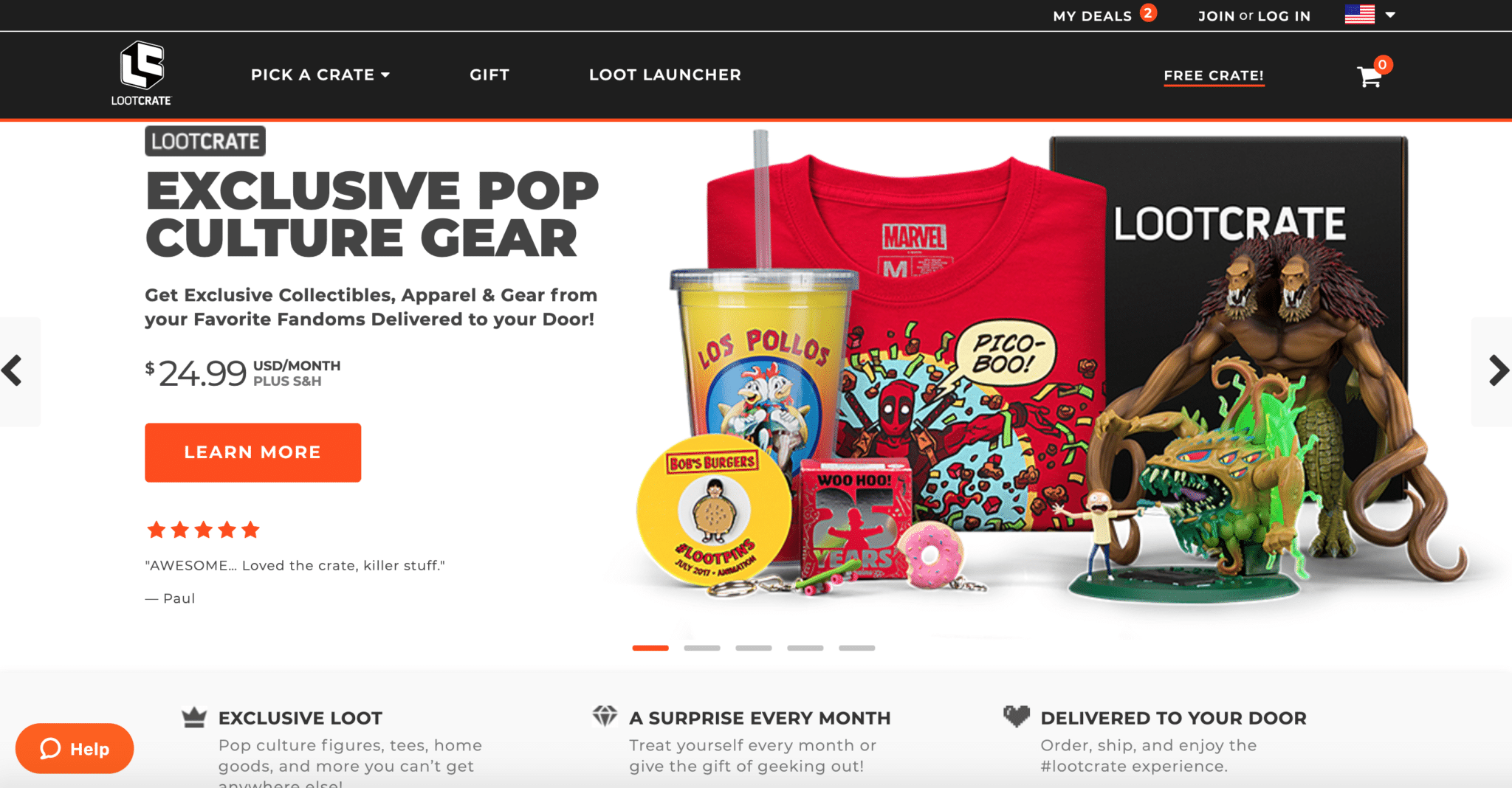 affiliate programs for gamers Loot Crate