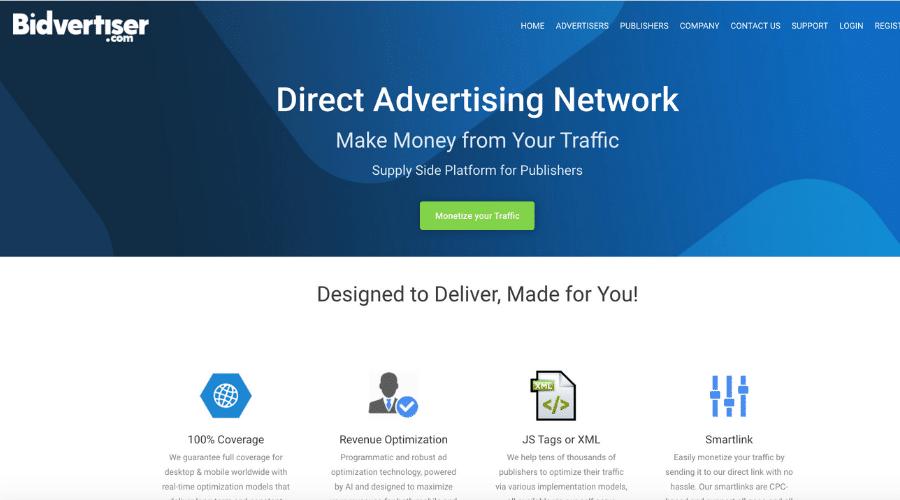 Bidvertiser Highest paying pay per click affiliate programs