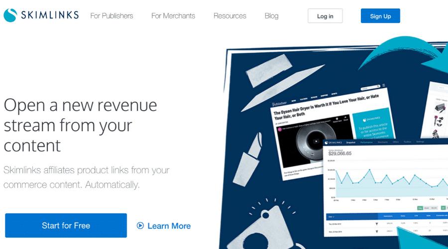 Skimlinks Pay per click affiliate marketing programs
