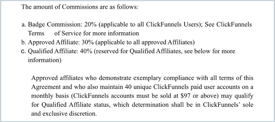 cickfunnels affiliate commissions