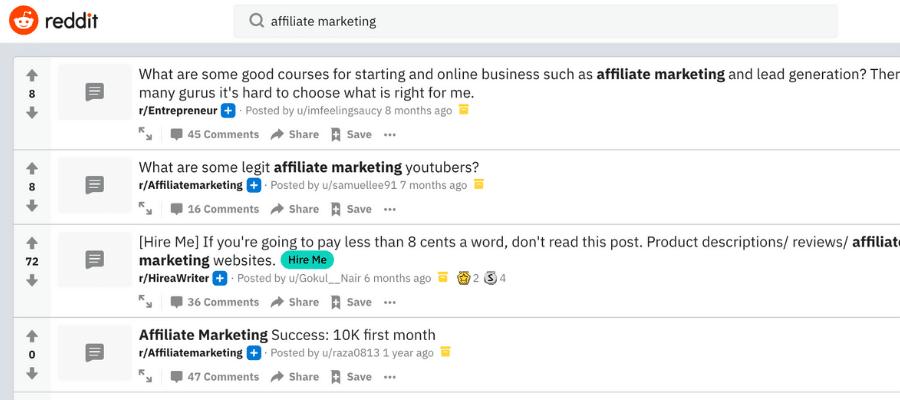 Reddit for affiliate marketing 2