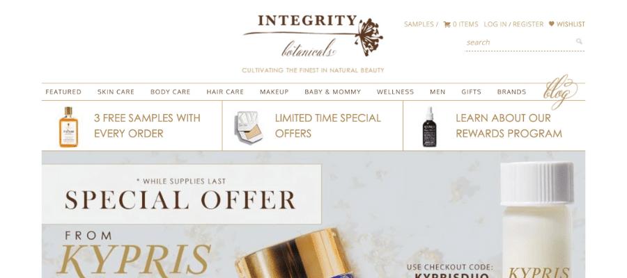 Affiliate marketing on pinterest Integrity Botanicals