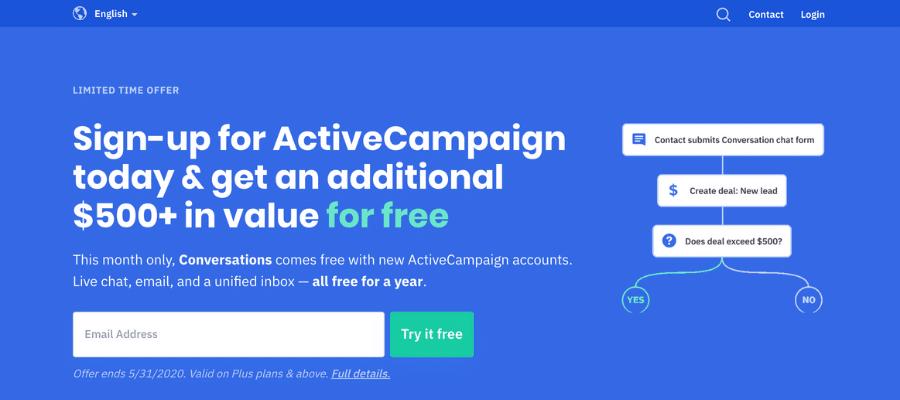 Best affiliate programs for pinterest ActiveCampaign