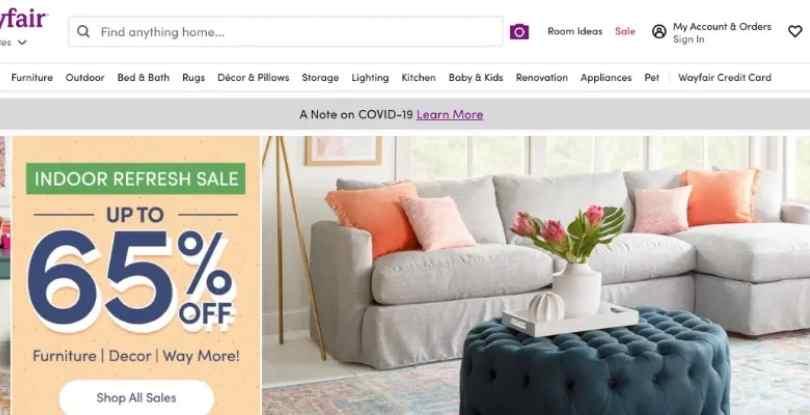 Affiliate marketing on pinterest with Wayfair