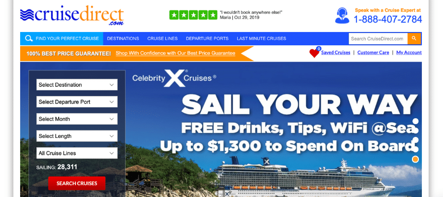 Cruise Direct travel affiliate programs