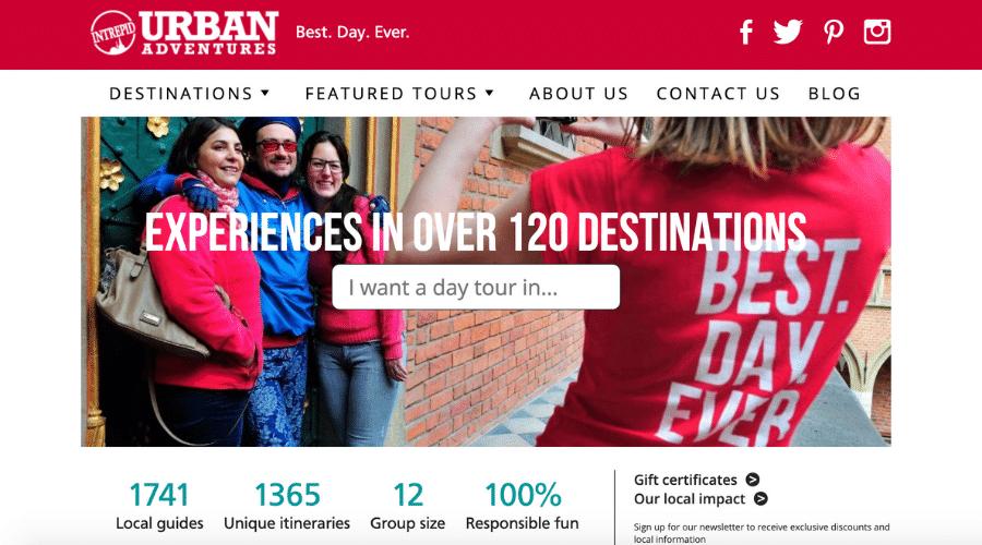 Urban Adventures affiliate programs for travel