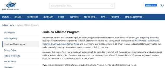 Christian affiliate program
