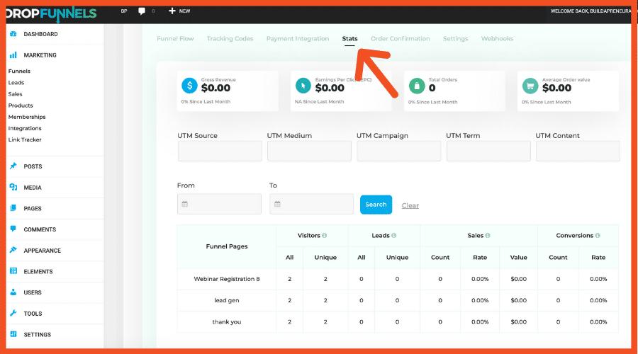 DropFunnels Stats for ClickFunnels Alternatives