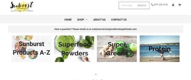 Sunburst Superfoods Vegan Affiliate Program