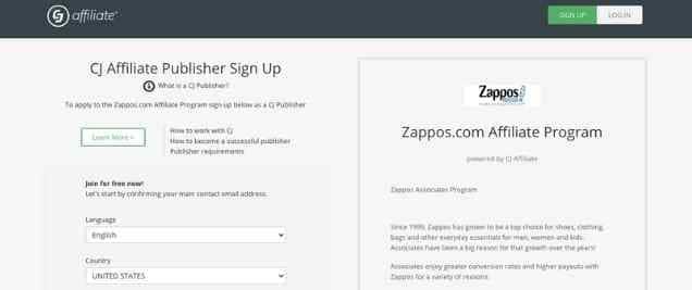 Zappos Affiliate Program