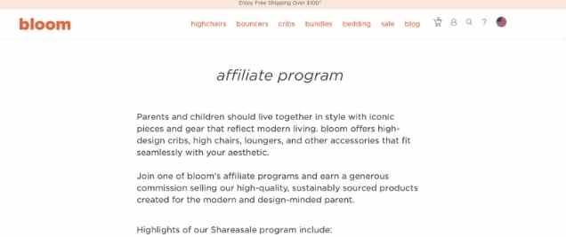 Bloom BabyAffiliate Program