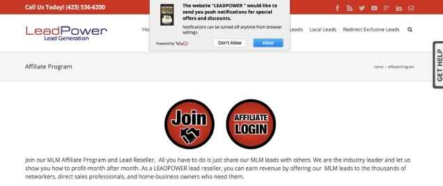 LeadPower Affiliate Program
