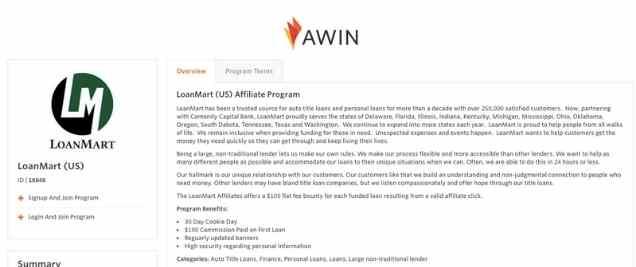 LoanMart Affiliate Program