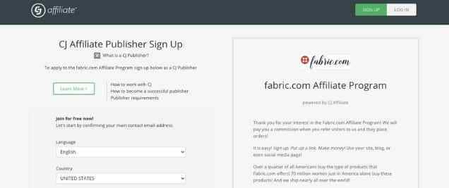 Fabric.comAffiliate Program