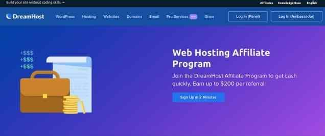DreamHost Affiliate Program