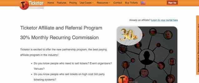 Ticketor Affiliate Program